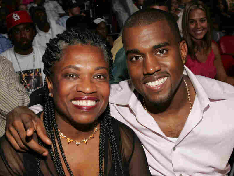 Kanye with his mother, Donda West, at the 2004 MTV Video Music Awards in Miami.