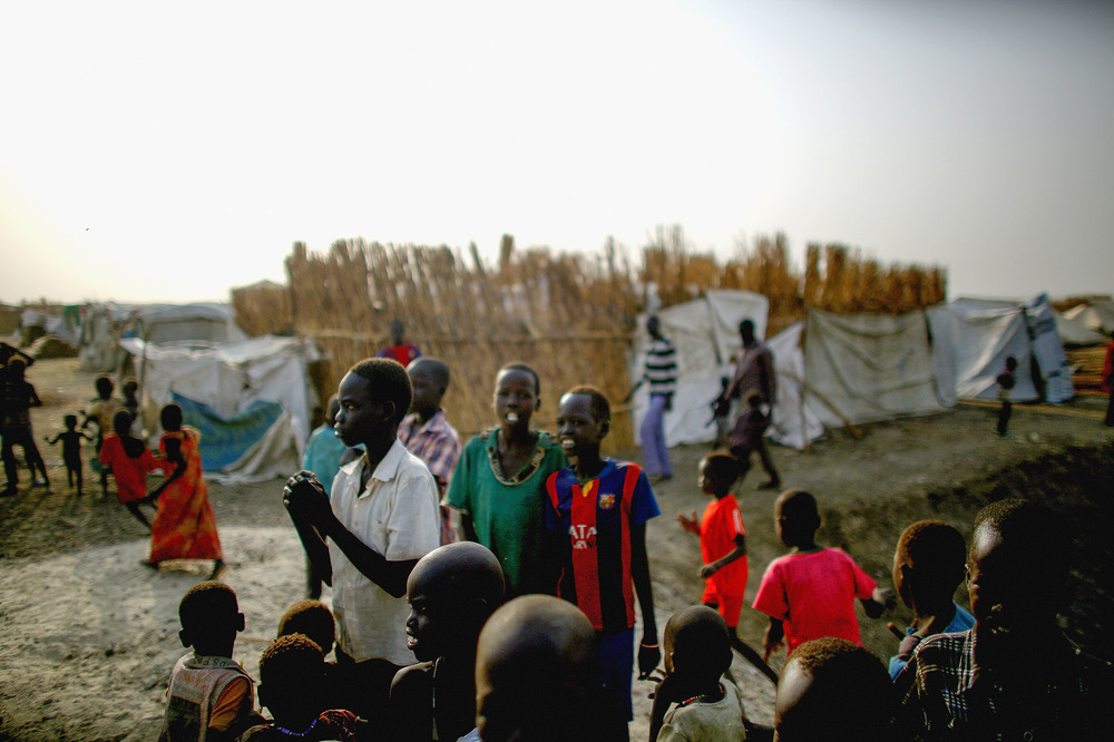 Children make up the majority of the residents in the camp.  In fact, roughly a third of the population of the Bentiu POC is under the age of 5.