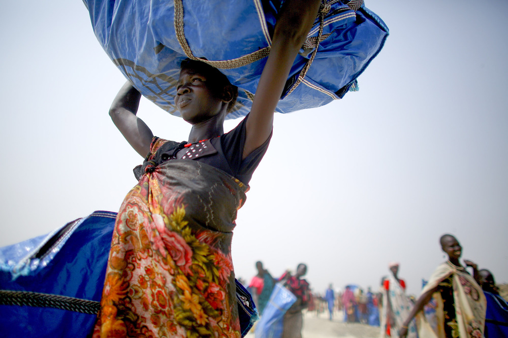 The U.N. is now distributing food as well as other essential items: blankets, buckets, tarps.