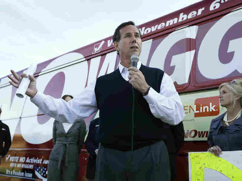 Rick Santorum during his 2012 presidential campaign