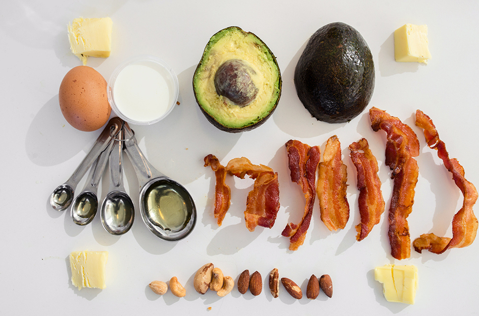 Foods that fit the ketogenic diet are high in fat and low in sugar. (Matailong Du/NPR)