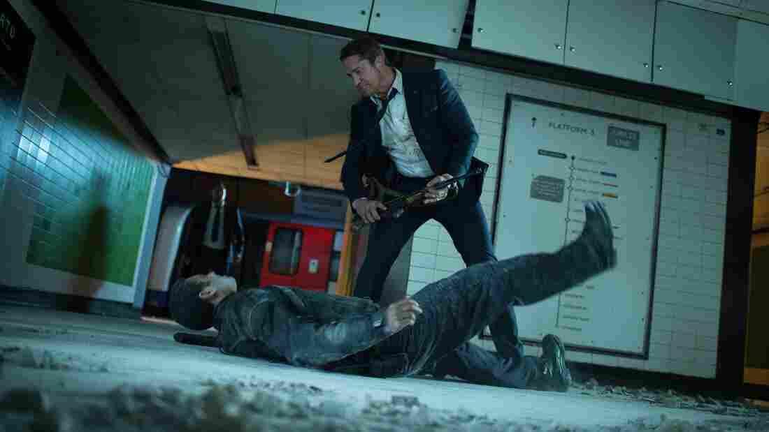 Gerard Butler stars as Mike Banning in London Has Fallen.