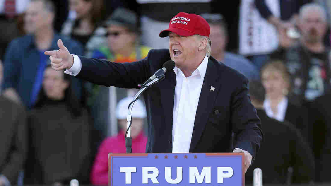 Republican presidential candidate Donald Trump at a campaign rally in Madison, Ala., on Sunday.