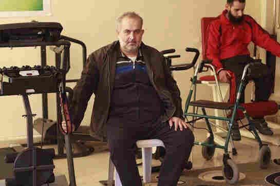 Bassam Farouh, a Syrian rebel fighter, was wounded in a Russian airstrike on his hometown two months ago and is undergoing rehabilitation across the border in Turkey.
