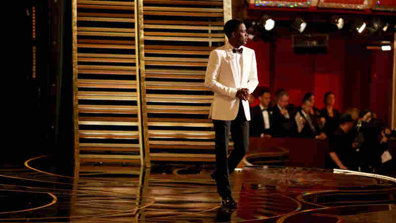 Comedian Chris Rock hosting the Oscars on Sunday. Rock's razor-sharp monologue skewered sensibilities on all sides of the #OscarsSoWhite debate.
