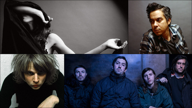 Clockwise from upper left: Marissa Nadler, M. Ward, Mitski, Kyle Craft, Nothing (Courtesy of the artists)