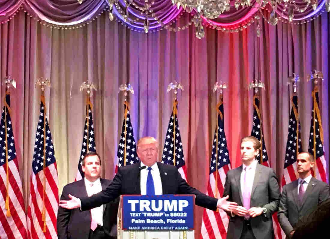 Trump speaks at the Mar-a-Lago Club in Palm Beach, Fla.