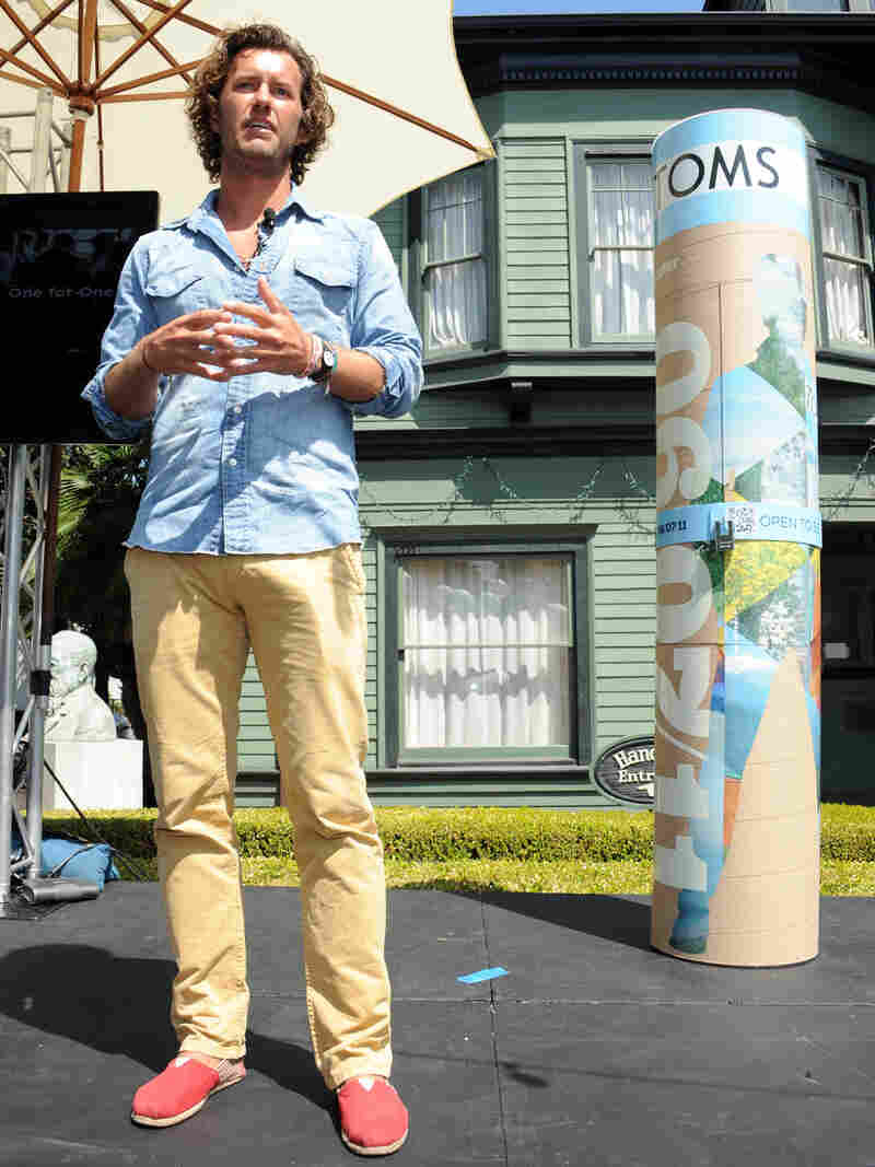 Blake Mycoskie is the founder of Toms, which is going beyond shoes, into eyewear, coffee and backpacks. Its charitable mission is changing, too, with direct contributions now to some causes.
