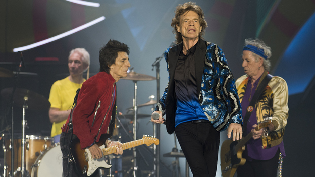 British rockers The Rolling Stones in concert last week in Sao Paulo. (AFP/Getty Images)