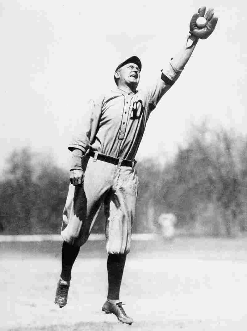 Ty Cobb, outfielder for the Detroit Tigers, is shown in action during practice in March 1921.