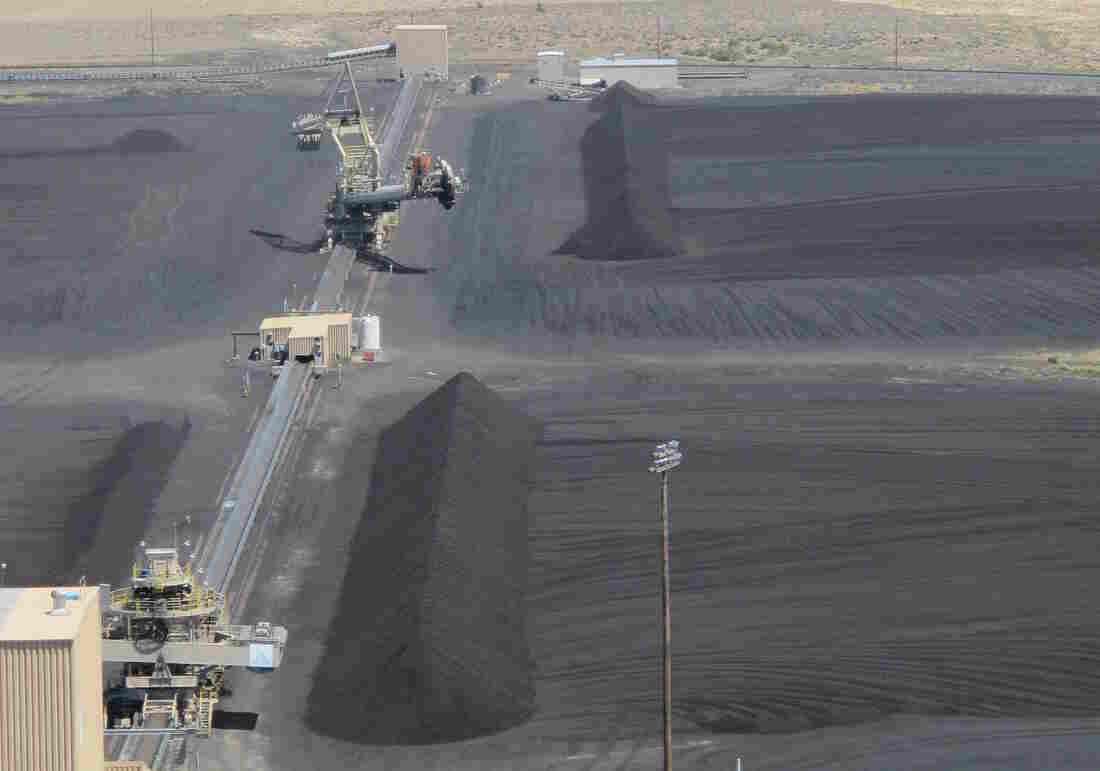 Oregon's large power utilities and environmental advocates have backed new legislation that phases out their use of coal. Here, a coal plant in Boardman, Ore., is seen in a 2014 file photo.
