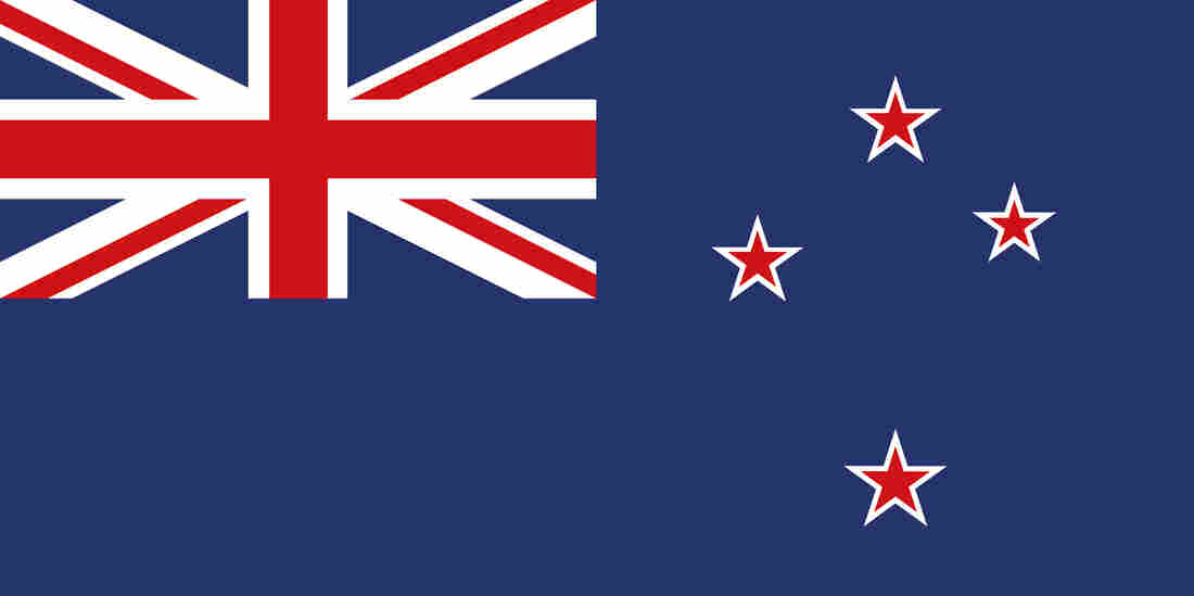 The current flag of New Zealand.