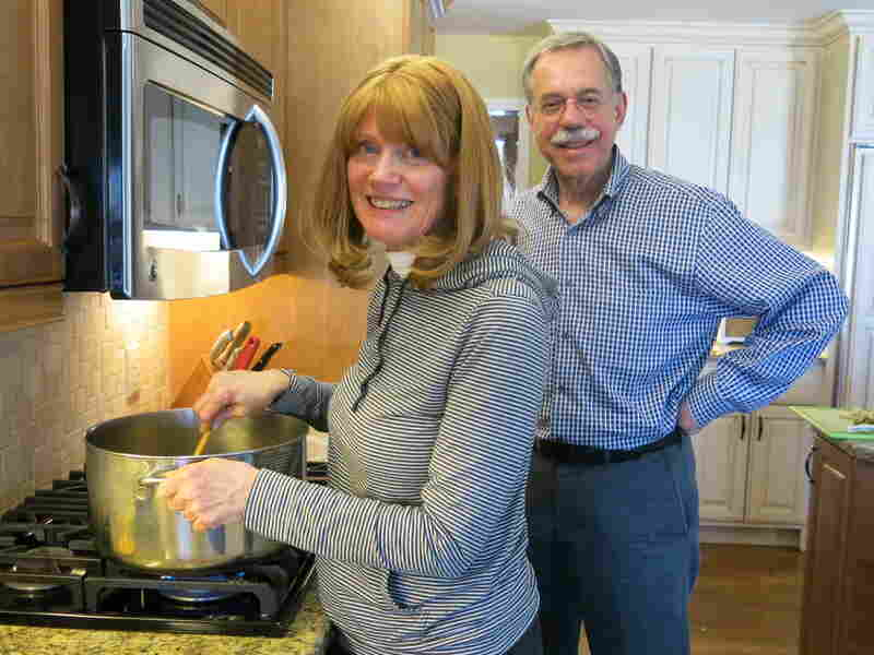 Victor Bergman and his wife, Susan, prepare a Sabbath meal in their Overland Park, Kan., home.