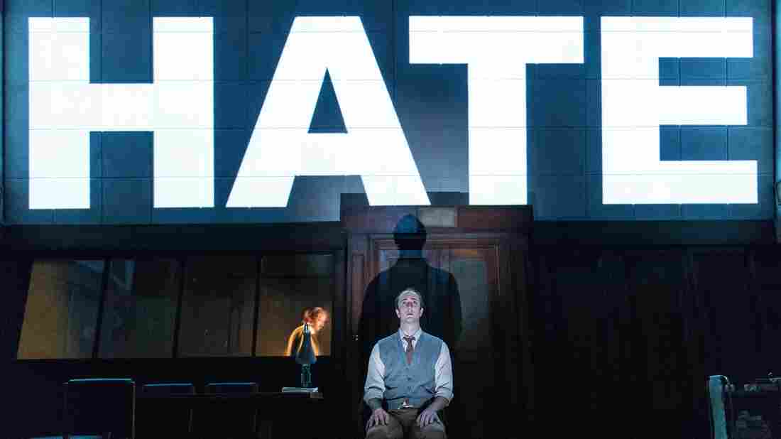 Actor Matthew Spencer stars as Winston Smith in the stage version of George Orwell's 1984.