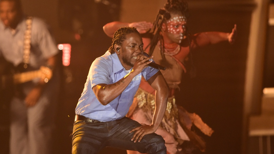 Kendrick Lamar performs at the Grammy Awards in Los Angeles in February. (AFP/Getty Images)