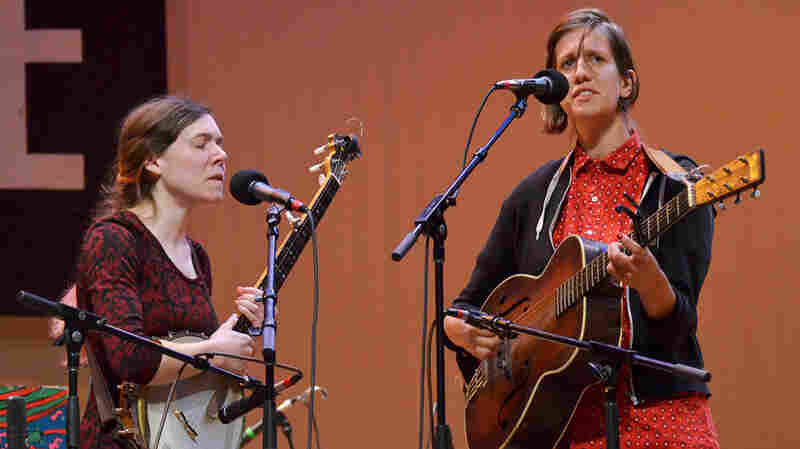 Anna And Elizabeth On Mountain Stage