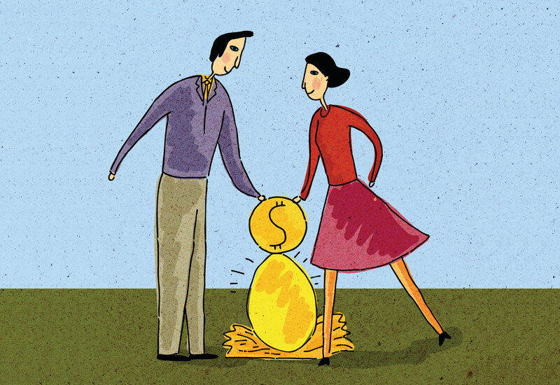 Image result for spending issues in marriage illustration