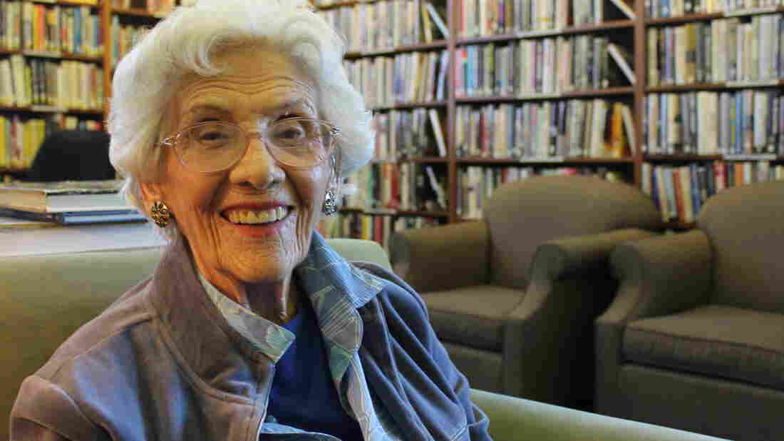 Connie Sawyer, 103, got into show business when she was 8. She's lived on the Motion Picture and Television Fund campus since 2004.