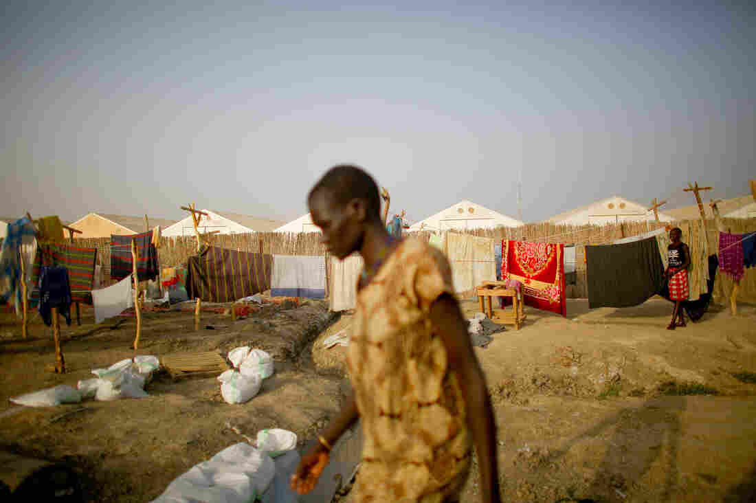 A woman walks through the Doctors Without Borders compound in Bentiu. The 170-bed facility treats many patients suffering from severe malnutrition and malaria. It is the only hospital for miles around capable of providing surgical and advanced medical care.