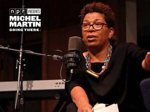 Michel Martin hosting a live event as part of the NPR Presents: Going There series.
