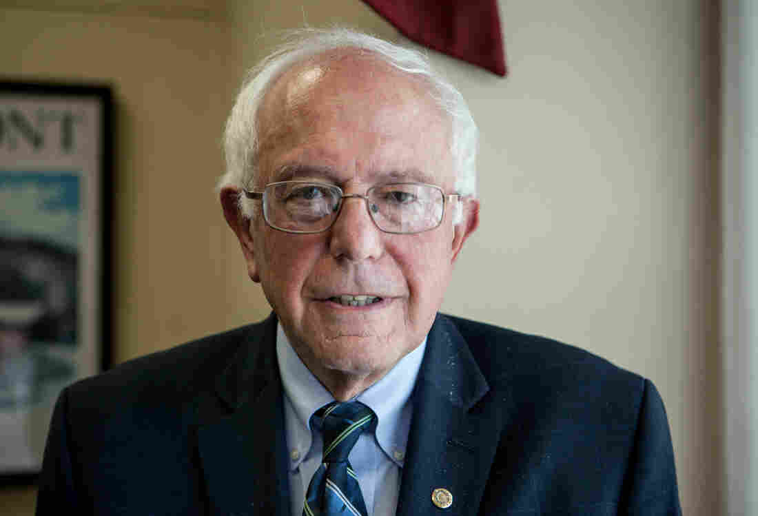 """Bernie Sanders, pictured on Capitol Hill last June, has a steep hill to climb to win enough delegates in the presidential primary. But, he told NPR on Wednesday, """"I am used to climbing steep hills."""""""