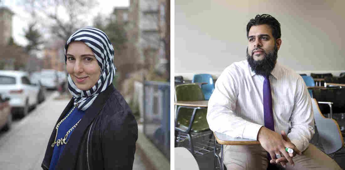 Yasmin Elhady (left); Meraj Allahrakha
