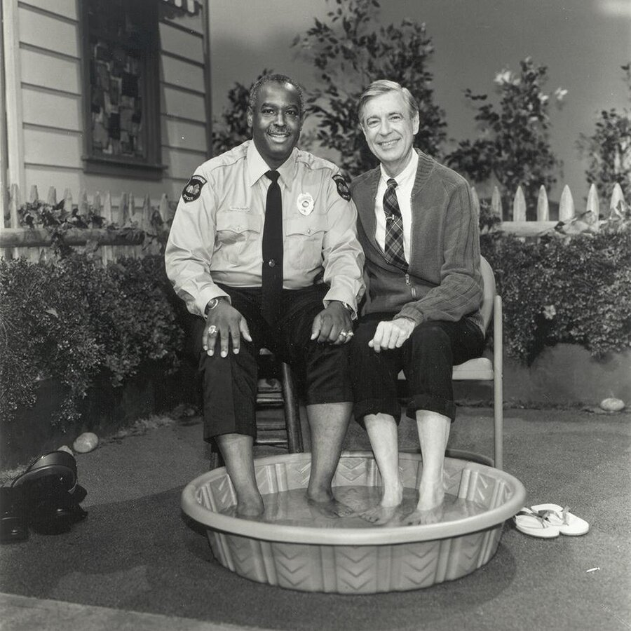 "You may be cool, but you'll never be ""Mr Rogers dipping his bare feet in a kiddie pool with a black cop"" cool."