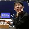 South Korean Go player Lee Sedol reviews the match after resigning, giving Google's artificial intelligence program AlphaGo a two-game lead in their five-game series in Seoul, South Korea, Thursday.