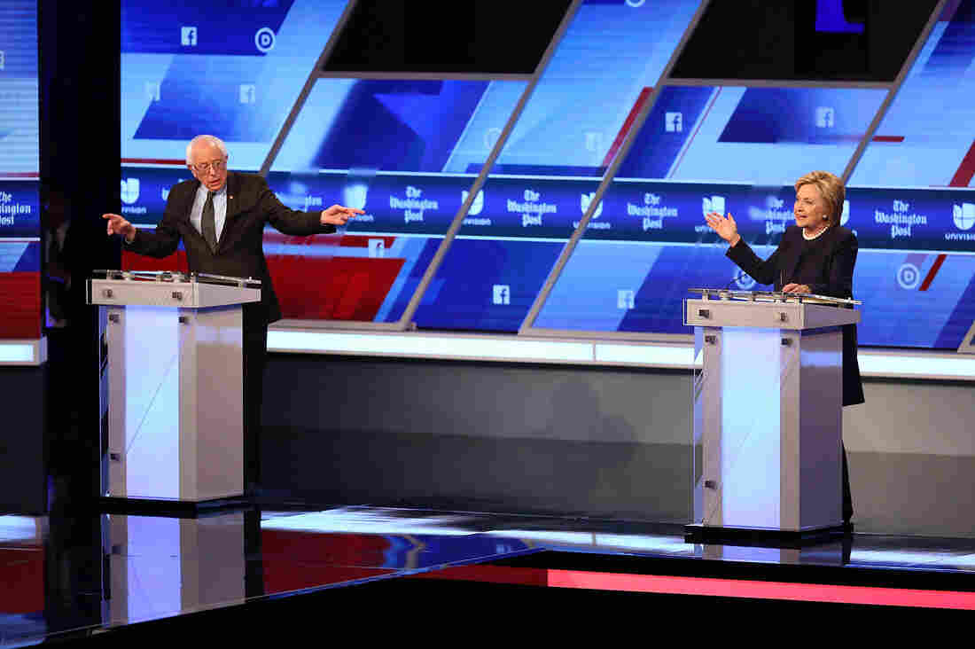 Florida tomato pickers' fight for fair wages and better working conditions became a topic at Wednesday night's Democratic debate in Miami between Vermont Sen. Bernie Sanders and Hillary Clinton.