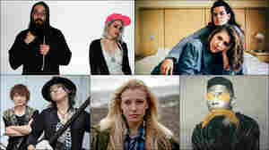 Clockwise from upper left: Dirty Dishes, The Overcoats, Gallant, Billie Marten, KAO=S