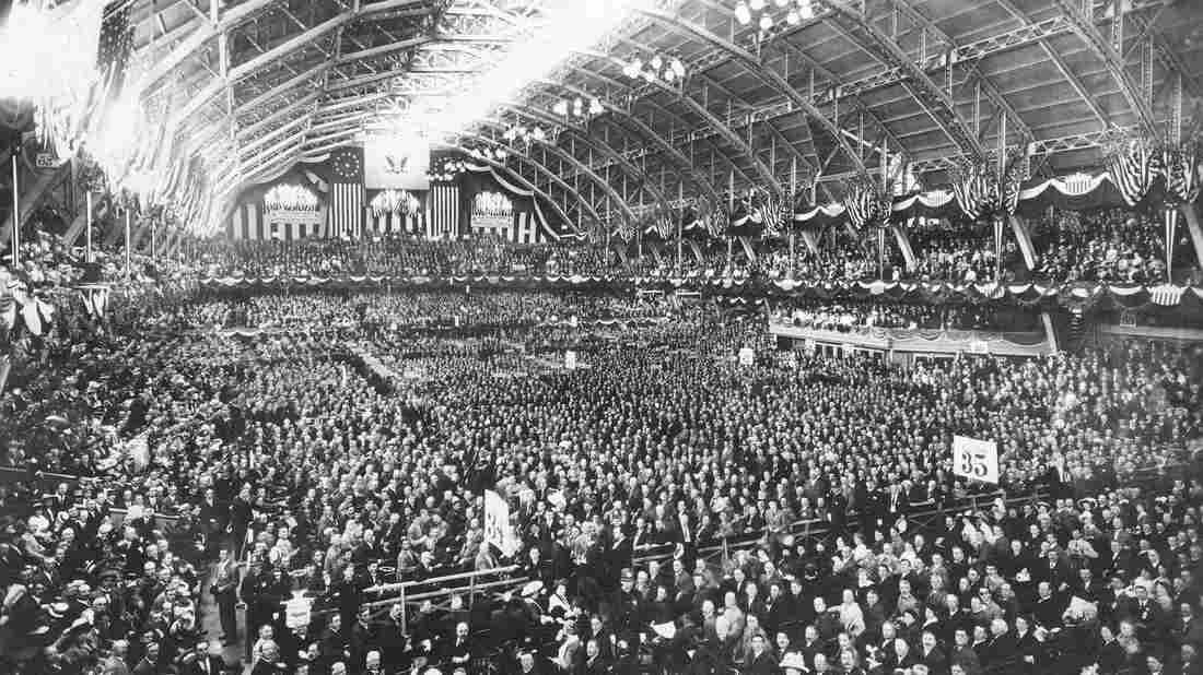A view of the 1912 Republican National Convention at the Chicago Coliseum in Chicago, Ill.