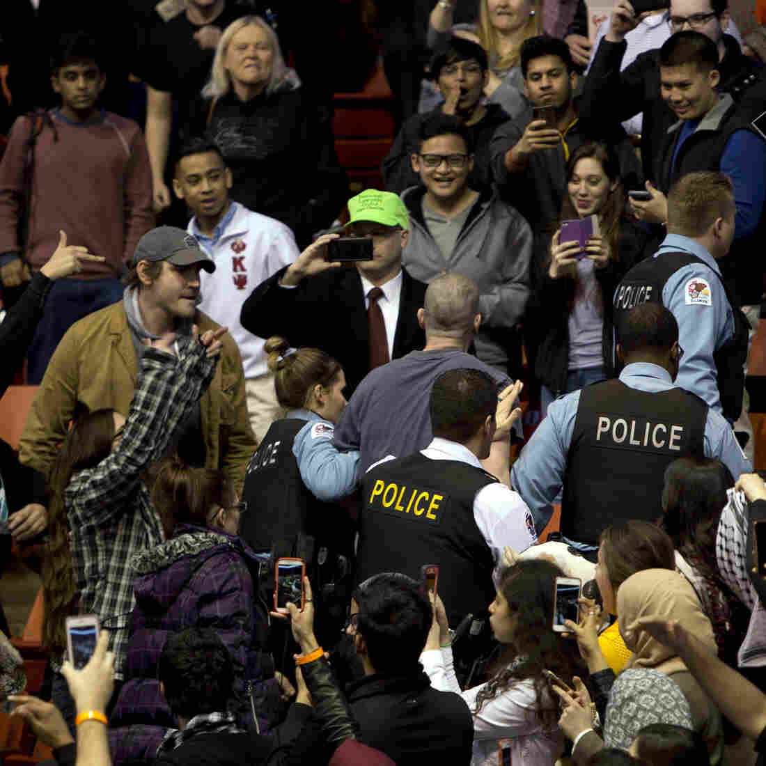 Presidential Candidates React To Violence At Donald Trump's Chicago Rally