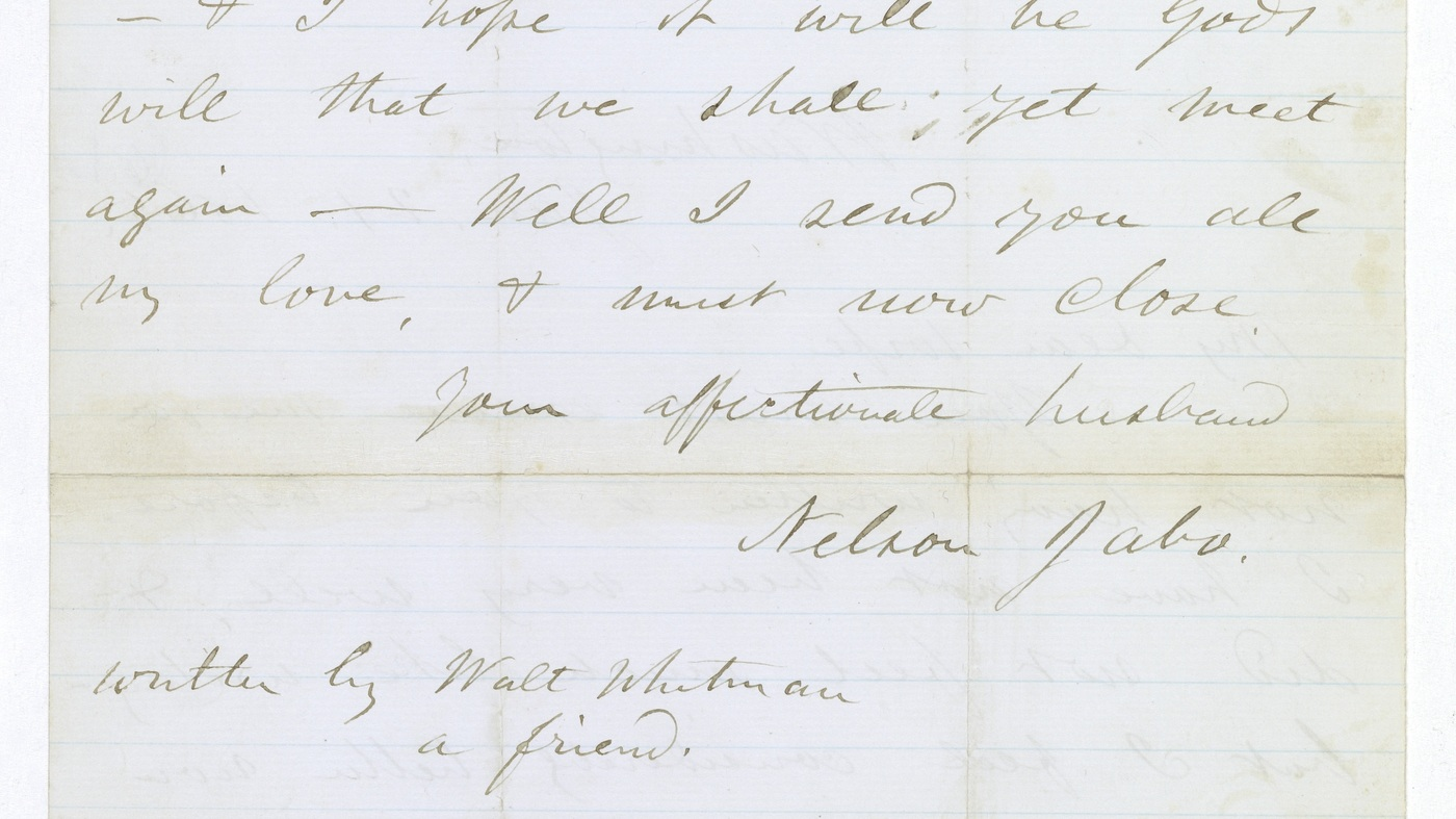 Walt Whitman's Letter For A Dying Soldier To His Wife