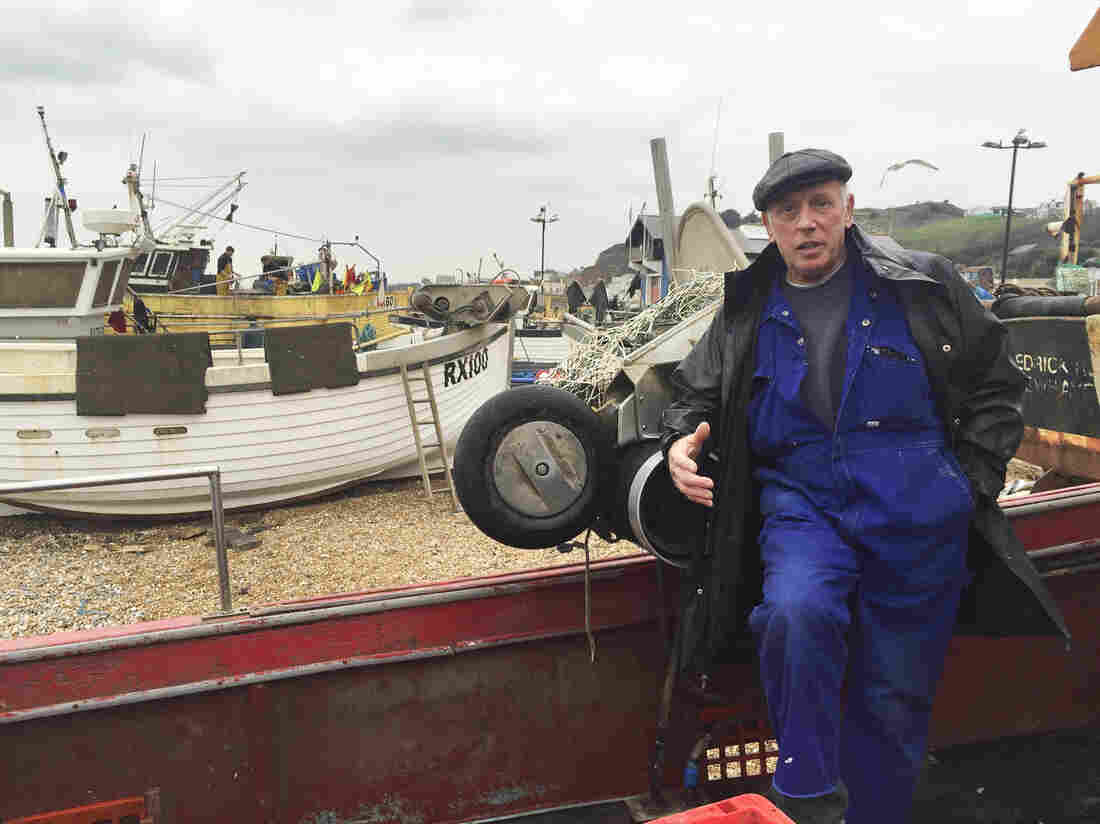 """Hastings fisherman Paul Joy complains that EU fishing quotas endanger his livelihood. """"We're very restricted in what we're allowed to keep,"""" he says."""
