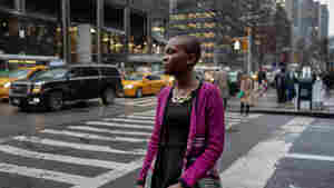 Grace, 18. from Monrovia, Liberia, poses for a portrait during her visit to New York City on March 14 to participate in a U.N. panel on aiding victims of rape.