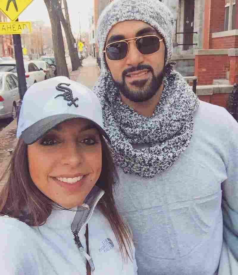 Almaleh with Samira Ardalan in Chicago.