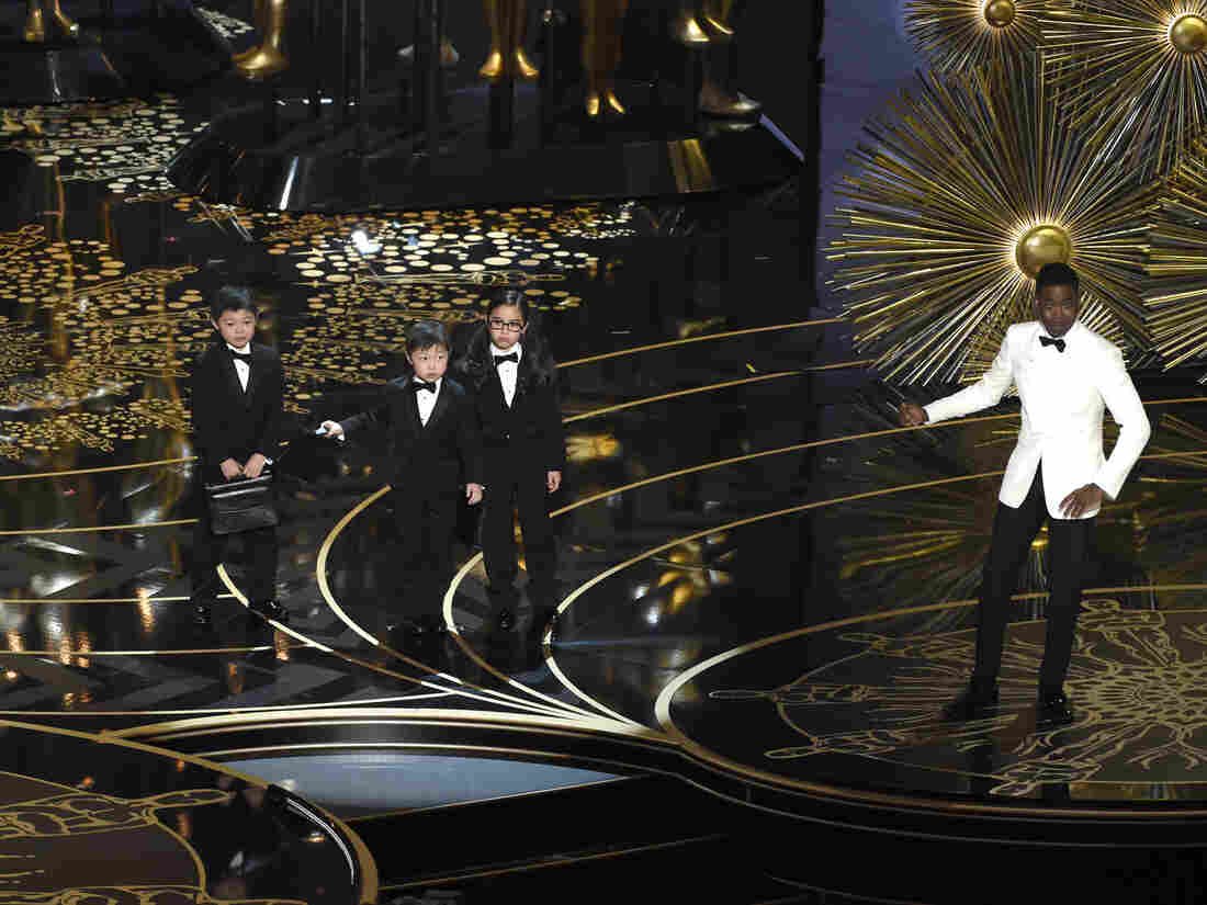 In one segment of this year's Oscar telecast, host Chris Rock introduced three Asian children who emerged onstage as PricewaterhouseCoopers accountants, invoking a tired stereotype about Asians being good at math.