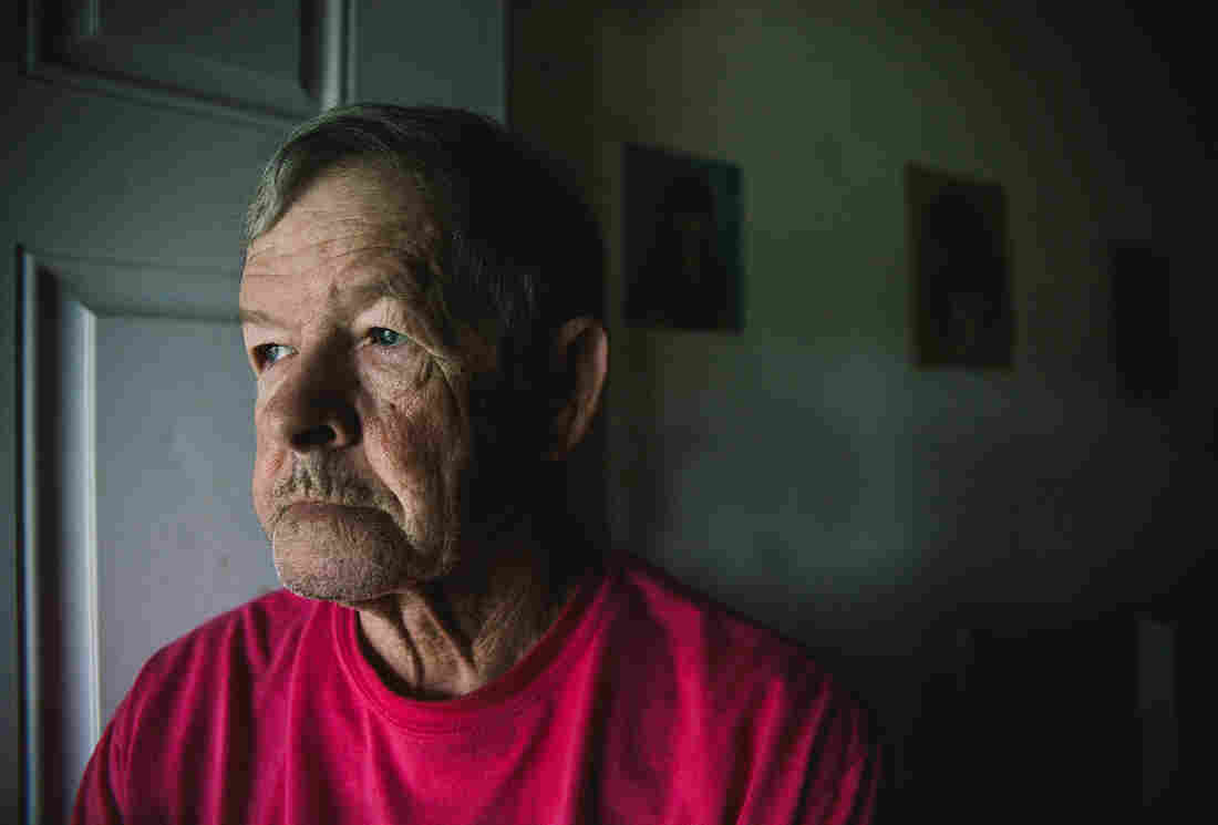Clyde Polly says people have injected the opioid painkiller Opana at his home in Austin, Ind.