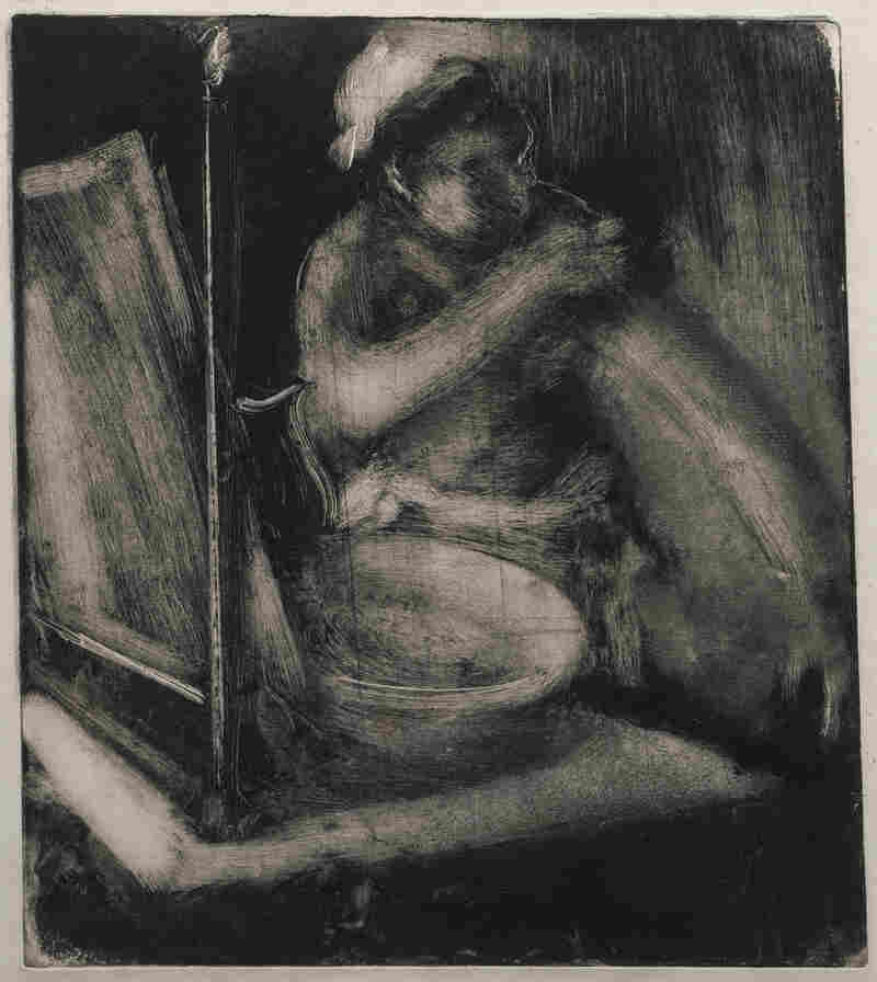 Edgar Degas created his monotype La Toilette circa 1885.