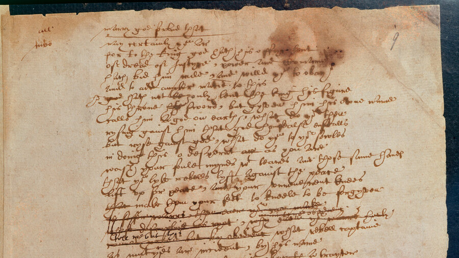 Only Script In Shakespeare's Handwriting Urges Compassion For ...