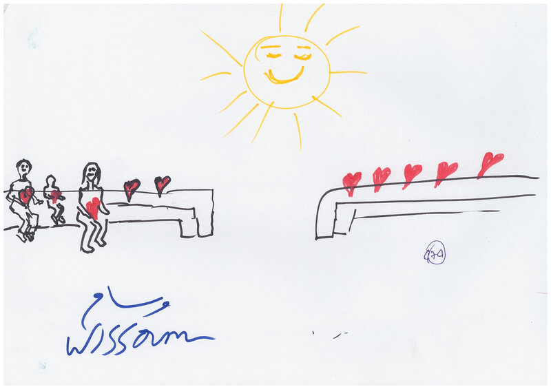Although Save the Children didn't record the age of the kids, Ardino suspects that this image was drawn by an older boy or girl.