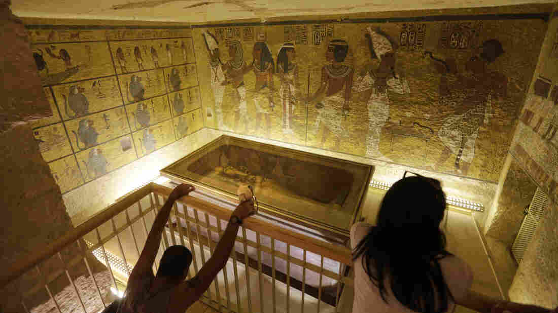 The tomb of King Tut in the Valley of the Kings in Luxor, Egypt. Researchers are investigating whether the tomb contains hidden chambers.