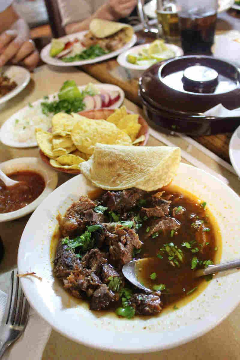 Gold says the birria — goat stew — at El Parian is their best dish.