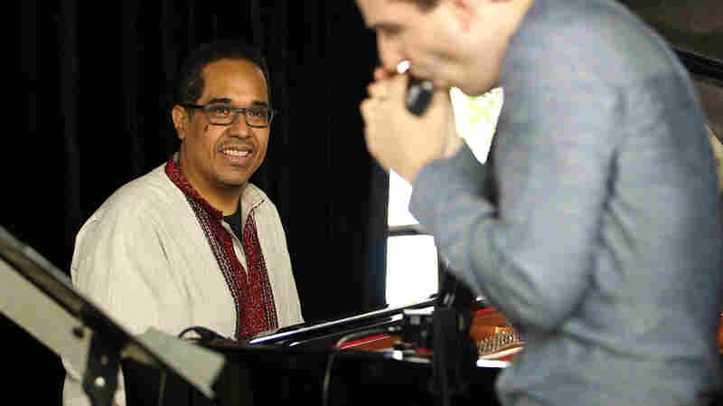 Danilo Pérez performs with Berklee students at the Panama Jazz Festival.