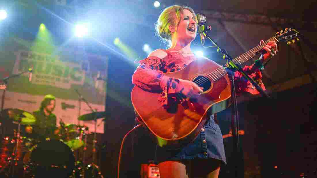 Margo Price brings the beehive and classic country back at the NPR Music SXSW showcase.