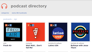 NPR podcast directory