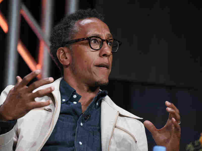 Andre Royo speaks on a panel at the Beverly Hilton Hotel on Aug. 3, 2015, in Beverly Hills, Calif.