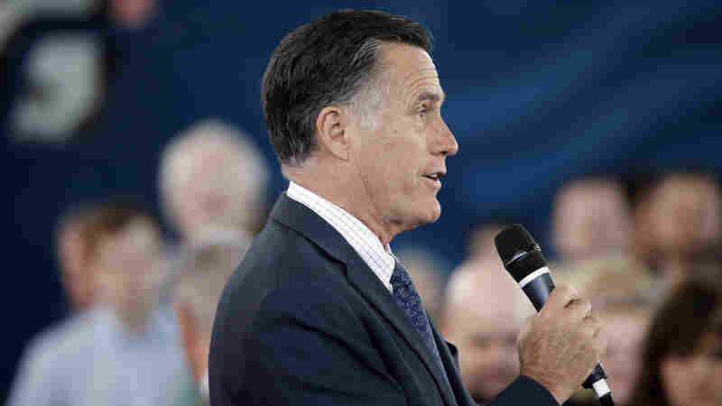 Former Republican presidential candidate Mitt Romney speaks during Republican presidential candidate, Ohio Gov. John Kasich campaign stop last week in Ohio.