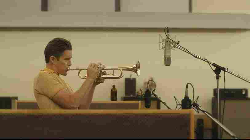Ethan Hawke as Chet Baker in Born to Be Blue.