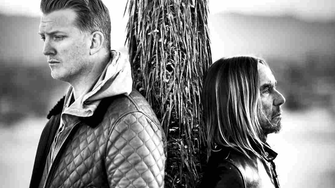 Iggy Pop (right) and Josh Homme.